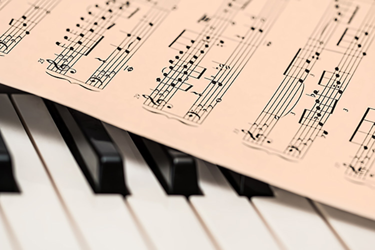 print music and piano