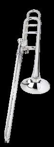 intermediate rental trombone silver f-attachment