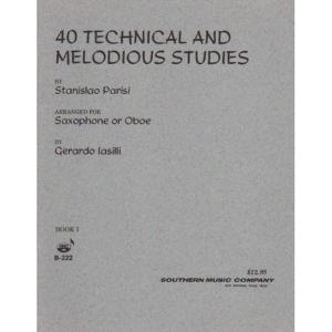 40 technical melodious studies for sax by parisi