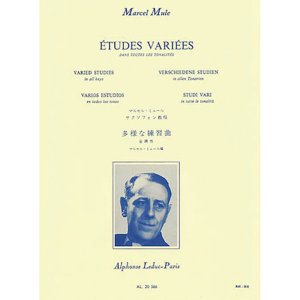 etudes variees for saxophone-mule