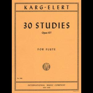 karg-elert 30 studies op 107 flute