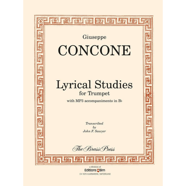 lyrical studies for trumpet or horn-concone