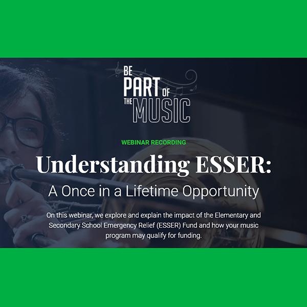 ESSER webinar for music educators
