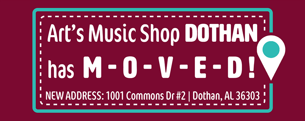 art's music shop dothan has moved